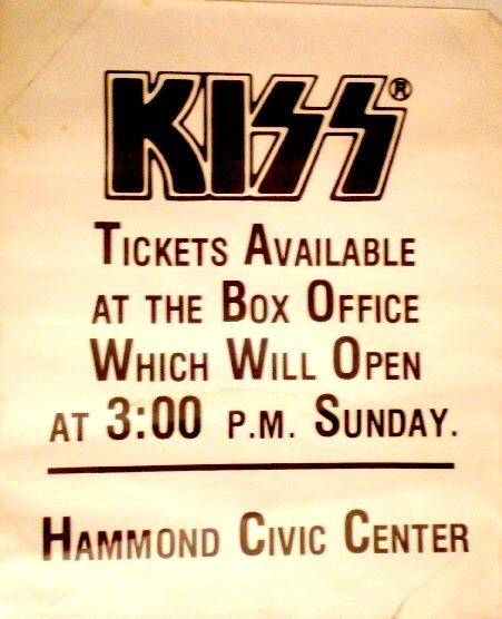 KISS Hammond Civic Center Poster