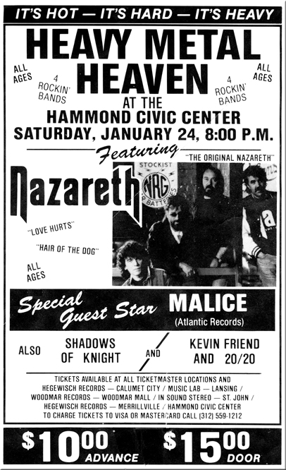 Nazareth at Hammond Civic Center